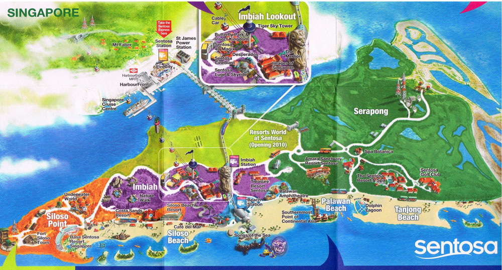 Image Gallery sentosa map