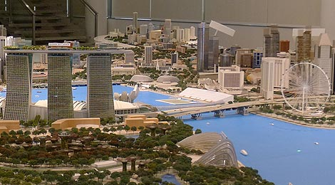 Marina Bay, Central Area Model, Singapore City Gallery
