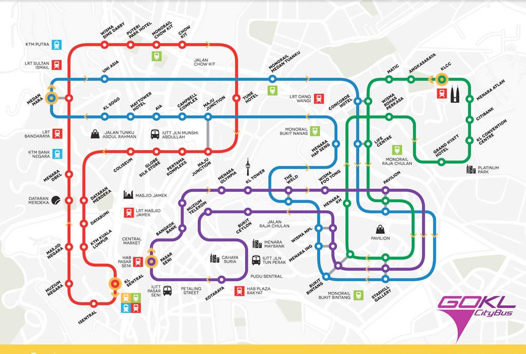 GO KL route map