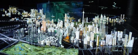 archictecture scale model of Greater Kuala Lumpur
