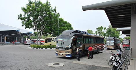 buses outside the station