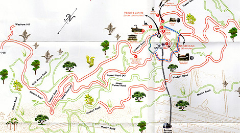 Penang Hill nature trail map