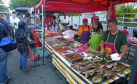 stall at the Bazaar Ramadan in TTDI