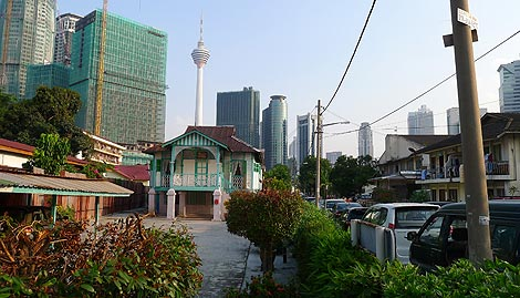 Kampung House with KL Tower