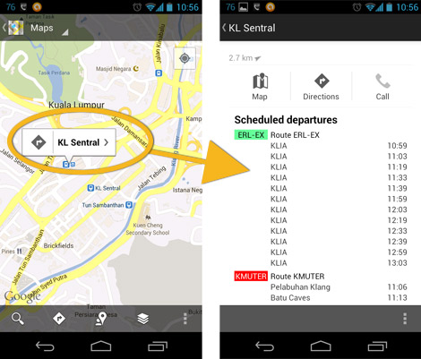 how to check google maps send to phone