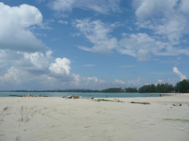 Cherating Beach, mostly quiet and peaceful beach near the budget accommodations. popular surfing spot when the weather is right