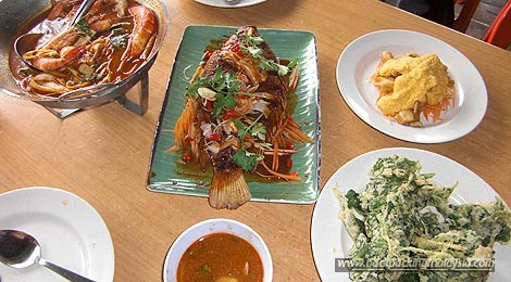 food at Fish Farm Thai Restaurant