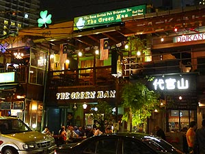 The Green Man, The Green Man is an traditional British pub / restaurant and one of the longest running establishments on Changkat.