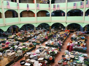 Central Market (Pasar Besar Siti Khadijah), very colourful dry and wet market in the city center