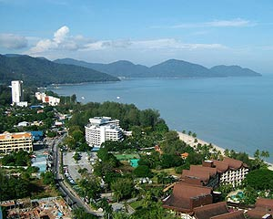 Batu Ferringhi, Along this famous beach area, there are numerous large hotels, budget guest houses, restaurants, transport rental services, and souvenir stores.