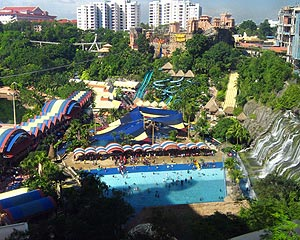 Sunway Lagoon, Sunway Lagoon is a major amusement park in Petaling Jaya (PJ), just south of KL. It is known for its thrilling rides in both the water park and the adjacent dry park.