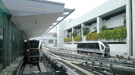 sky trains Changi Airport Singapore