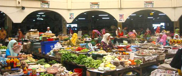 fruits and vegetable stalls