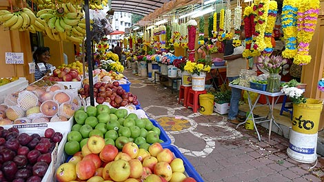 Fruits and Flower Leis, Little India Brickfields