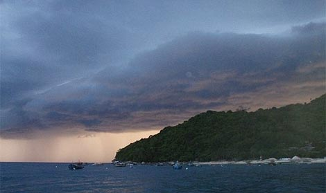 storm clouds over Perhentian Islands