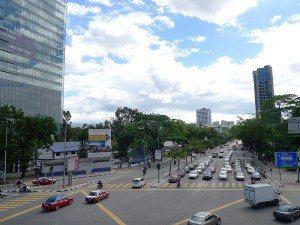 Ampark Park,  view down Jalan Ampang out of town