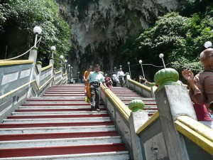Batu Caves,  stairs leading up to the caves
