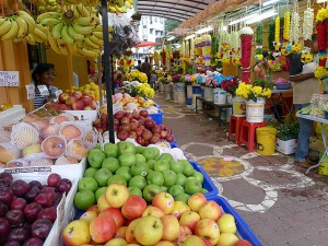 Brickfields,  fruits and Flower Leis