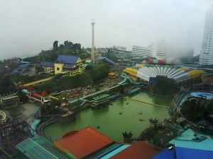 Genting Highlands,  clouds coming in ...
