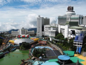 Genting Highlands,  the outdoor theme park and some of the hotels