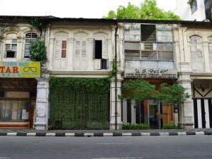 Ipoh,  old shophouses at Jalan Sultan Yusuff