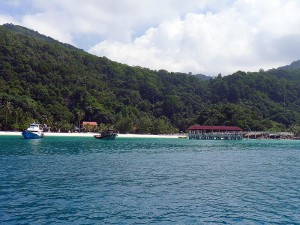 {Pulau Redang,  jetty at Redang Mutiara Beach Resort