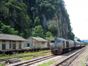 Jungle Train,  train next to the karst mountains of Gua Musang