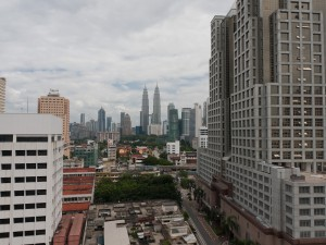 Kuala Lumpur,  view from Chow Kit towards downtown