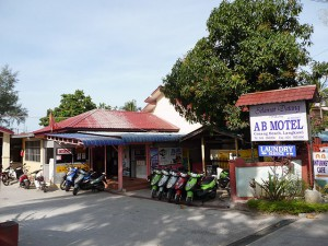 AB Motel, Langkawi,  view from street