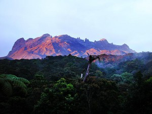 Mount Kinabalu National Park,  Mount Kinabalu from a distance
