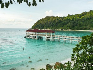 {Perhentian Islands,  beach at Pulau Perhentian Resort
