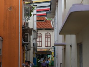 Singapore,  back lane near Dunlop Street