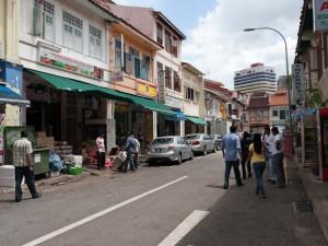 Singapore,  road in Little India