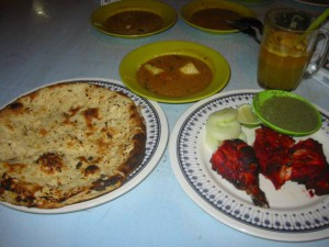 Food And Food Stalls,  Tandoori chicken and Naan bread