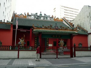 Mosques And Temples,  Chinese buddhist temple in Chinatown, KL