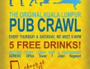 KL PubCrawl, Pubcrawl-poster my september