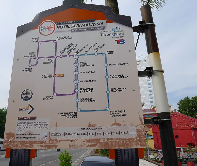 Bus Kite Route Signboard