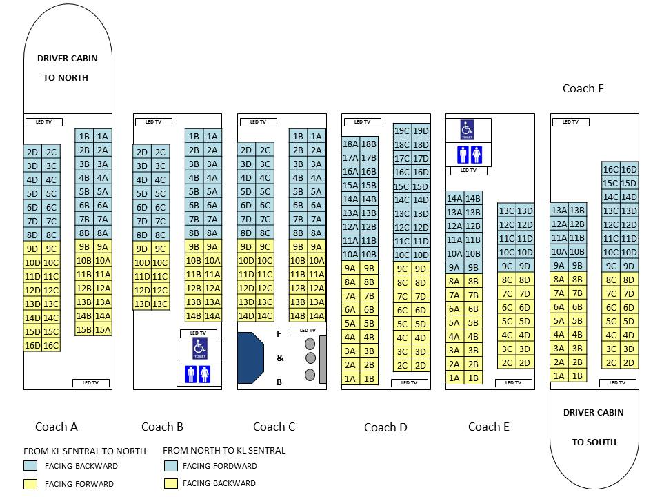 Rotem Seat Layout
