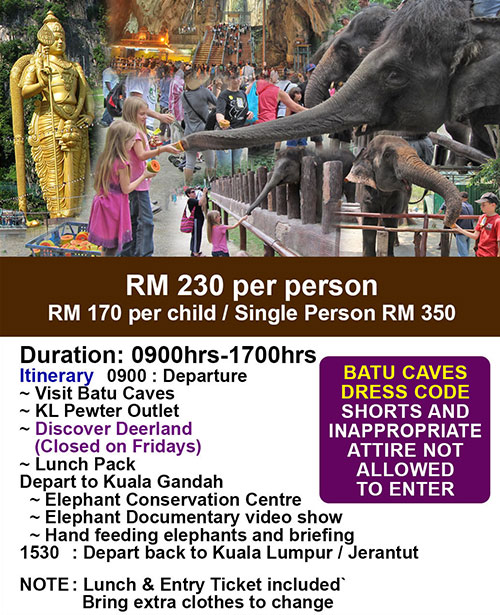 Elephant and Batu Caves Tour