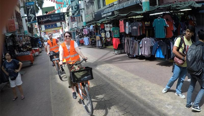 Cycling Through Petaling Street