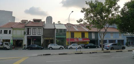 row of old shophouses