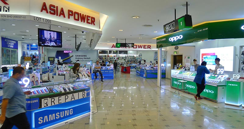 Asia Power and Oppo phone shops