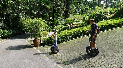 Segway practice at a slope