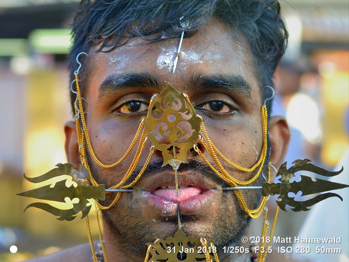 portrait photo Thaipusam in Penang