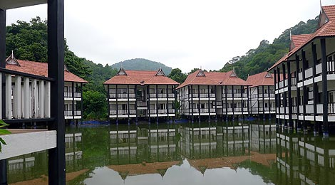 artificial lake, Sari Pacifica Resort