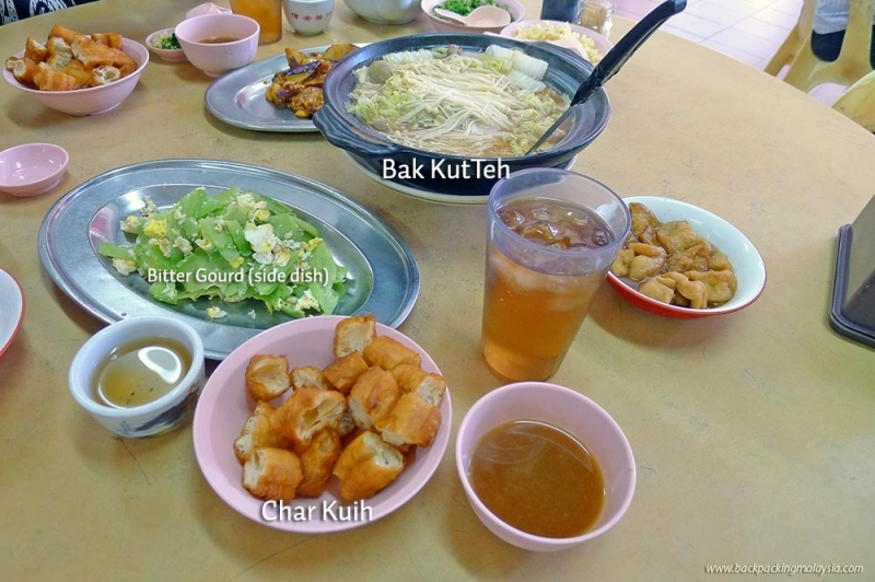 typical Bak Kut Teh menu
