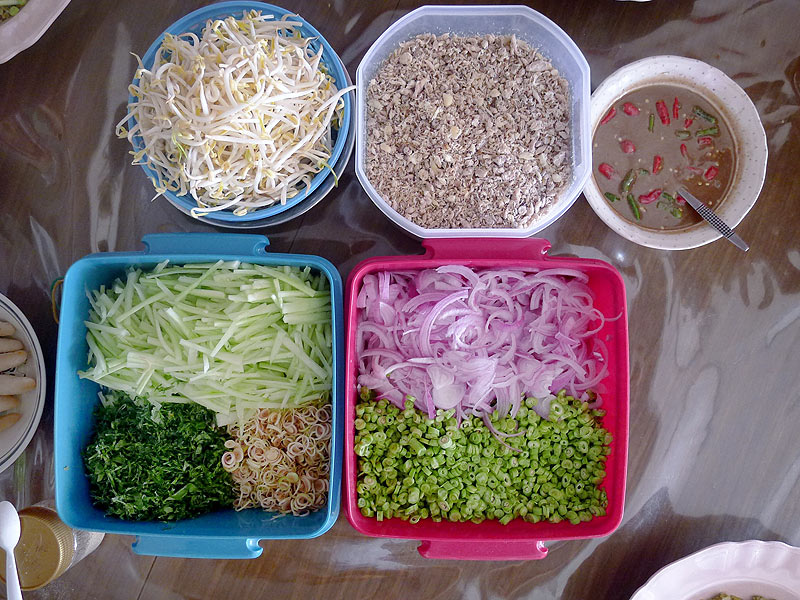 the salad (kerabu) ingredients