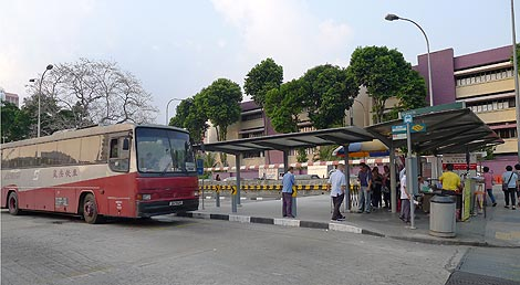 Singapore - Johore Express bus stop