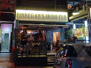Finnegan's Irish Pub, Irish pub and restaurant on Changkat Bukit Bintang