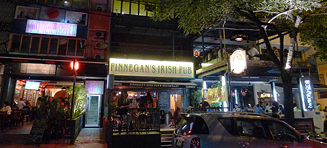 title of Finnegans Irish Pub on Changkat Bukit Bintang
